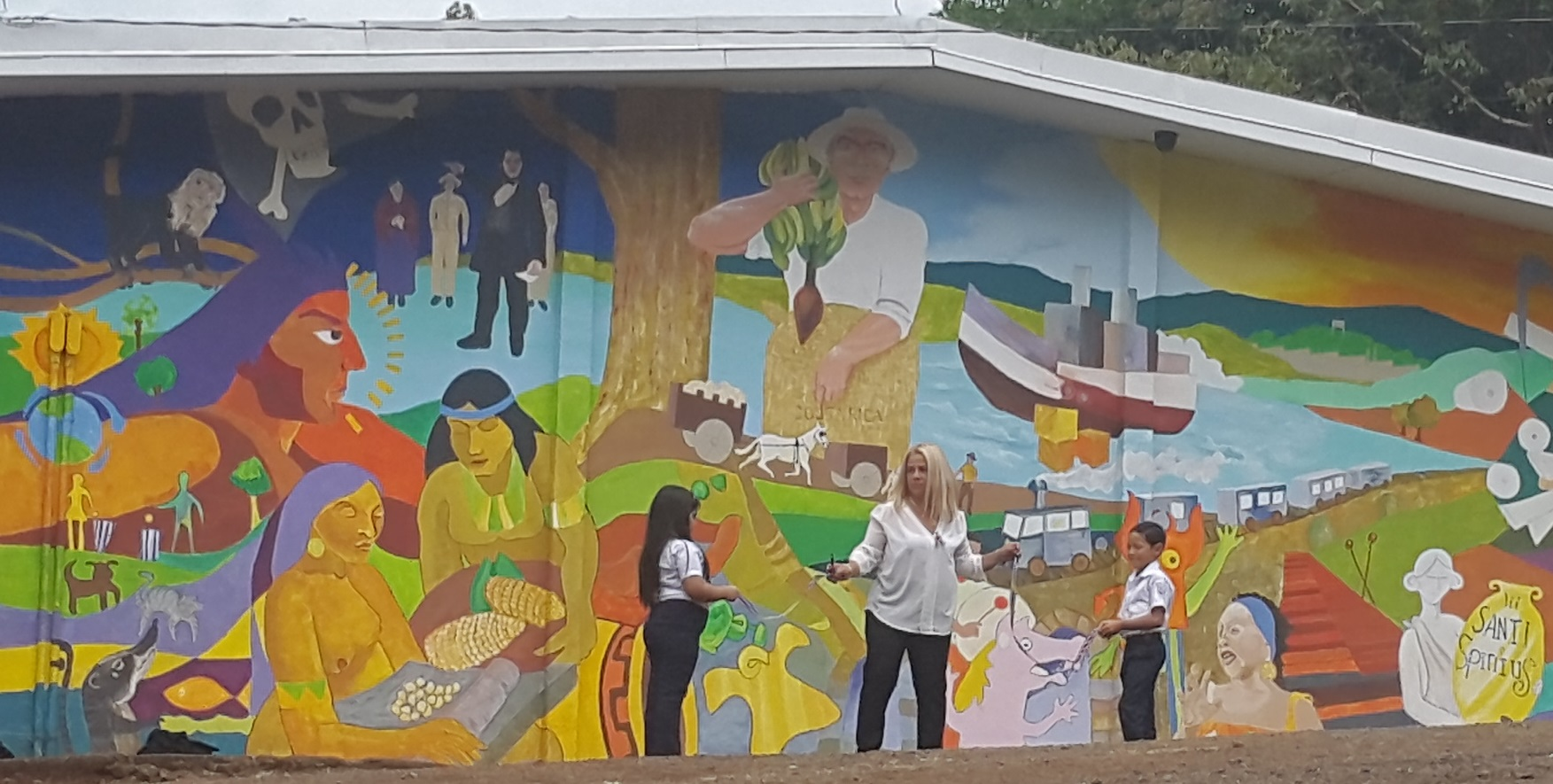 Mural en la escuela lic jos francisco p rez plasma la for Caracteristicas de un mural